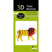 Fridolin - Papierowy model 3D - Lew - 11620