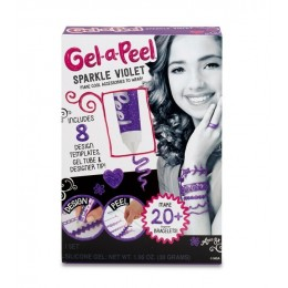 Gel-a-Peel - Żelowa biżuteria - Fiolet z brokatem 542087