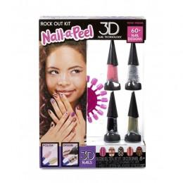 Nail-a-Peel - Zestaw do malowania i ozdabiania paznokci - Rock out!  550136