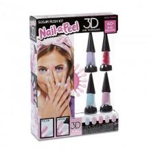 Nail-a-Peel - Zestaw do malowania i ozdabiania paznokci - Sugar Rush 550143