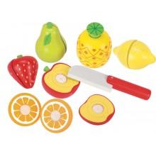 GOKI 51597 Drewniane owoce do krojenia