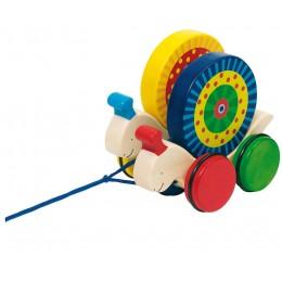 GOKI - Drewniane zwierzęta na sznurku - Wyścig ślimaków 54970