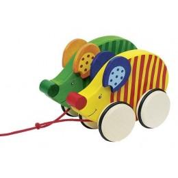GOKI - Drewniane zwierzątka na sznurku - Wyścig myszek 54971