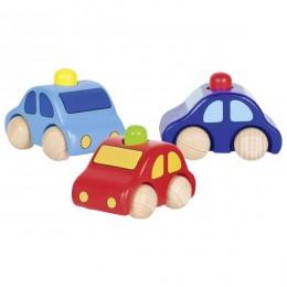 GOKI 55011 Drewniany samochodzik - trzy kolory