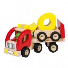 GOKI - Drewniana ciężarówka z naczepą i ładowarką - 55963