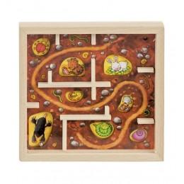 GOKI - Drewniana gra z kuleczką - brązowa 56878