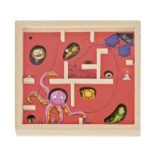 GOKI - Drewniana gra z kuleczką - czerwona 56878