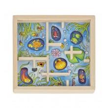 GOKI - Drewniana gra z kuleczką - niebieska 56878