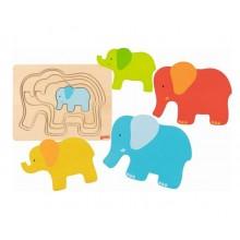 GOKI – Układanka drewniana słoniki – 57450