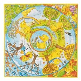 GOKI 57451 Drewniane puzzle XXL - Kaczuszki