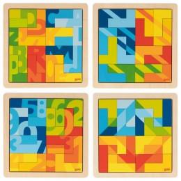 GOKI - Puzzle do układania w kształcie litery L - 57472