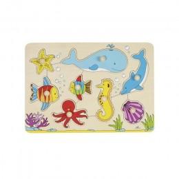 GOKI 57502 Układanka drewniana - Zwierzęta morskie