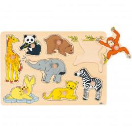 GOKI - Drewniana układanka - Dzikie zwierzęta 57502