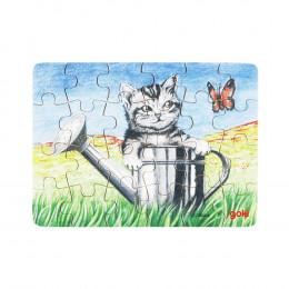 Goki - Mini Puzzle 24el. - Kotek w konewce - 57653