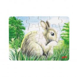Goki - Mini Puzzle 24el. - Zajączek - 57653