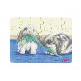 GOKI - Mini puzzle 24el. - Króliczki 57653