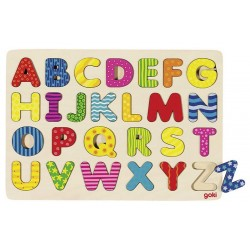 GOKI - Układanka drewniana - Alfabet 57672