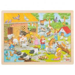 GOKI 57685 Układanka drewniana - Na farmie