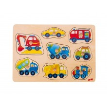 GOKI - Układanka drewniana - Pojazdy 57708