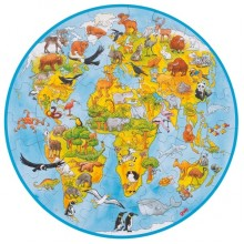 GOKI - Puzzle 49 el. - Zwierzęta świata 57711