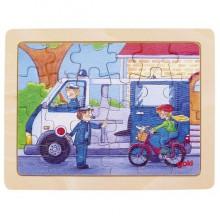GOKI - Puzzle drewniane - Policja 57739