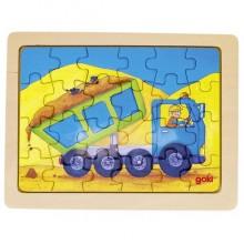 GOKI - Puzzle drewniane - Wywrotka 57739