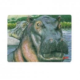 Goki - Mini Puzzle - Hipopotamy - 57802