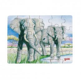 Goki - Mini Puzzle - Słonie - 57802