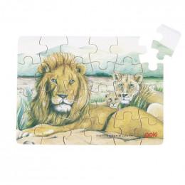 Goki - Mini Puzzle - Lwy - 57802