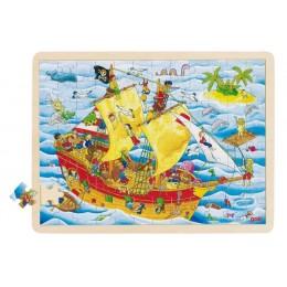 GOKI 57831 Drewniane puzzle - Piraci