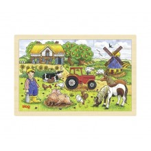 GOKI 57891 Puzzle drewniane - życie na farmie