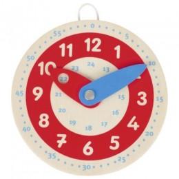 GOKI 58485 Drewniany zegarek ze wskazówkami