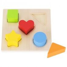 GOKI 58516 Drewniany sorter kształtów i kolorów
