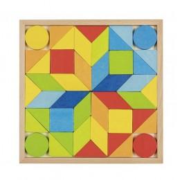 GOKI - Drewniana układanka - Mozaika 44el. 58747