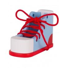 GOKI - Drewniany but do nauki wiązania sznurówek - 58784