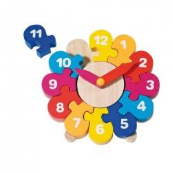 GOKI - Drewniany zegar - Układanka z puzzlami 58894