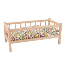 GOKI RA107 Drewniane łóżeczko dla lalek - pojedyncze