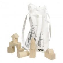 GOKI - Klocki drewniane w woreczku 45 el. - WB001