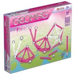 GEOMAG Klocki magnetyczne - 053 - Pink 66 elementów