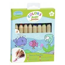 Aladine – Kredki dla maluchów Jumbo – 8 kolorów 42009