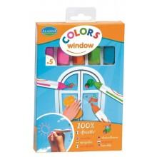 Aladine – Markery do szyb – 5 kolorów 42010