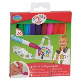 Aladine – Markery do tkanin – 10 kolorów 42020