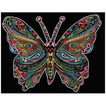 Colorvelvet – Welwetowa kolorowanka – Motyl CVL101