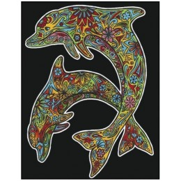 Colorvelvet – Welwetowa kolorowanka – Delfiny CVL102