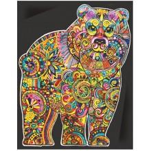 Colorvelvet – Welwetowa kolorowanka – Niedźwiedź CVL123