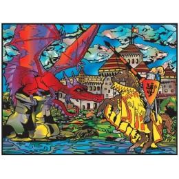 Colorvelvet – Welwetowa kolorowanka – Smok i zamek CVL80