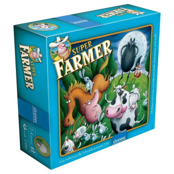 Granna - Gra planszowa Super Farmer DELUXE + drewniane figurki 3734