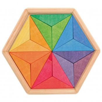 Grimm's - Drewniane puzzle do układania - Gwiazdy 43332