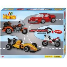 Koraliki Hama MIDI - Pojazdy wyścigowe 4 tys. - 3149