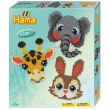 Koraliki Hama MIDI - Zestaw Zwierzaki w Zoo 2,5 tys. - 3241